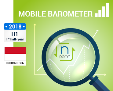 the image of the best mobile internet in Indonesia for the first half of 2018